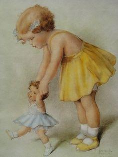 peintre illus bessie pease gutmann - Page 2 Images Vintage, Vintage Artwork, Vintage Pictures, Vintage Cards, Vintage Postcards, Vintage Prints, Bessie Pease Gutmann, Robert Duncan, Vintage Children