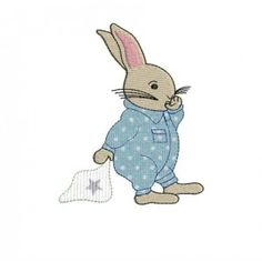 Motif de broderie bébé lapin