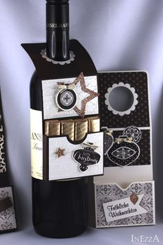 15 Flaschenanhänger weihnachtlich RESERVIERT von INEZZA  -  Geschenkestübchen auf DaWanda.com