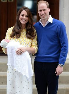 Catherine, Duchess of Cambridge with their new baby daughter