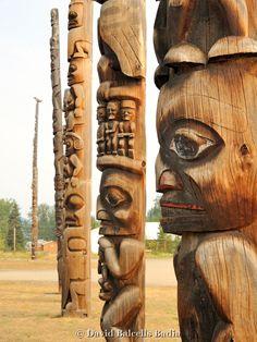 The poles of Kitwanga, British Columbia near New Hazelton and surrounding area. #explorebc