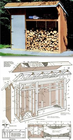 Woodshed Plans - Outdoor Plans and Projects | WoodArchivist.com