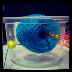 Yarn dispenser to prevent tangles!