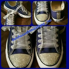 Customer converse #keishacustomedesigns #customkicks #fashionkicks #daretobedifferent