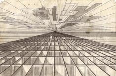 Perspective Drawing for Middle School   How to Draw - Basic Linear Perspective