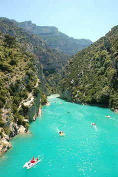 Gorge du Verdon at the tip of the Lac de Sante Croix - it really is that blue! ©elliephilpott