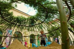Kagome is a special weaving technique as well as a Japanese children's song. It's also the name of a children's sand pit in the Vienna MuseumsQuartier.