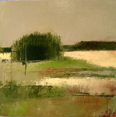 "Irma Cerese - ""Prince Edward Island,"" acrylic on canvas 12″ x 12″"