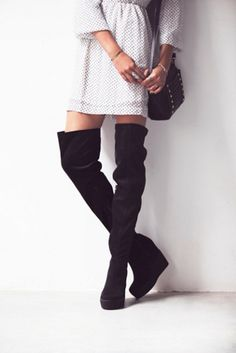 Wedge over the knee boots give your legs a seamless extension! Buy on ShopStyle