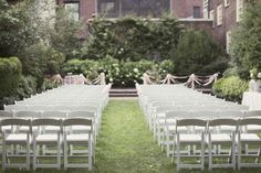 Outdoor Garden Party Ceremony | photography by http://lovemedophotography.com/