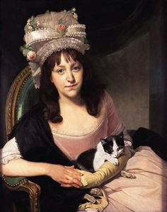 Johann Zoffany (German painter, active in England) Portrait of Sophia Dumergue about 1780 oil on canvas, 76 x cm © Victoria Art Gallery, Bath Victoria Art, Art Gallery, Old Paintings, Cat People, Art Uk, Historical Costume, Crazy Cat Lady, Cat Art, Female Art