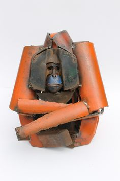 Orangutan, 2014, reclaimed scrap metal by Iain Nutting