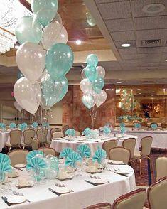 Tiffany Balloon Centerpiece