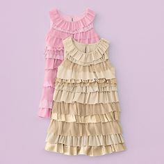 tiered ruffle dress... something like this would be cute for a top or a dress over leggings for Maranatha