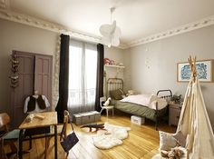 gray room, teepee