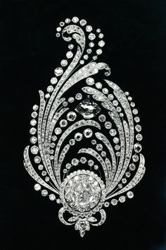 Boucheron, Paon de Lune,  diamond brooch.