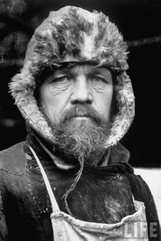 Closeup portrait of Tovarisch (Comrade) Mikhail, a Siberian bricklayer, 1931 by Margaret Bourke-White
