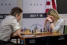 Congrats to our new US Women's Champion Nazi Paikidze! Here she is in an emotional moment near the end of her game vs. Krush.  #ChessChampion #Chess