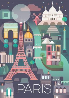 PARIS POSTER #TravelEuropeIllustration