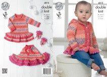 King Cole Baby Drifter DK Knitting Pattern 4313