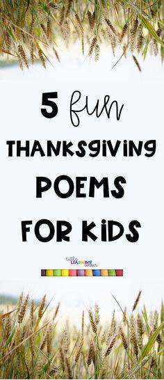 5 Best Thanksgiving Poems for Kids