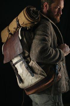 02bb390b0cc6 oldstile coat and backpack. Wool