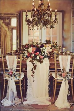 Gold Glam Wedding Inspiration (via Bloglovin.com )