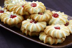 Cookie Recipe: Classic Thumbprint with Jam these might be a good base for sprinkle cookies