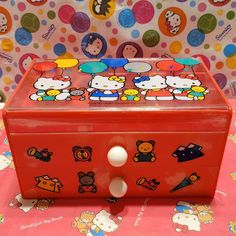 VINTAGE SANRIO HELLO Kitty Balloons 1990 Drawer Trinket Case Jewelry Box - $89.00 | PicClick