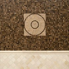 Crema Marfil And Emperador Dark Marble tile by MSI Stone