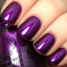 "China Glaze ""Rebel Collection"" (Fall 2016) - Purple Fiction"
