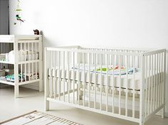 """BBBBB Baby visitors? Gulliver Crib, $99 Monroe's favorite Ikea find is the Gulliver crib. """"It is a fraction of the price of similarly styled cribs and it's made of solid birch so it's durable, which is important when your baby is jumping around in the crib. It also converts to a toddler bed."""""""