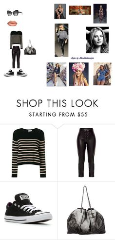 """""""Gwyneth Paltrow 💜 Happy Saturday 💖"""" by handlethisstyle ❤ liked on Polyvore featuring Kerr®, RED Valentino, Converse, Chanel and Dolce&Gabbana"""