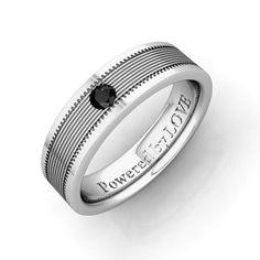 Engraved Mens Black Diamond Wedding Band Comfort Fit in Platinum (0.10 cttw) 5MM, Powered by LOVE My Love Wedding Ring, http://www.amazon.com/dp/B008L568OS/ref=cm_sw_r_pi_dp_eruTqb10FJMPQ