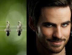 Once Upon a Time // Captain Hook earrings // Peter Pan // OUAT // Chainmail earrings //