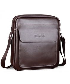 855218490d81 Men Genuine Leather Shoulder Messenger Bag Cross-body Handbag - Brown -  C9187NUG9I8  Bags