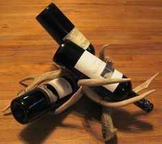 Deer Antler Wine Rack by DeerDear on Etsy, $89.99  Looking for a wine rack for a few nice bottles. I'm really digging this one.