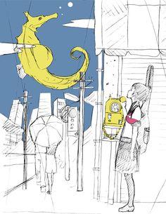 好きなイラストレイターの中村佑介さんのラフ画です‼️