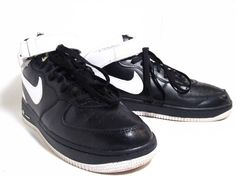 Nike Air Force 1 Oreo Blk White Hightop Strap Mens Size 11 Sneakers Basketball | eBay