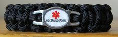 No Cephalosporin Paracord Bracelet w/Side Release Buckle  $14.95