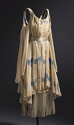 Léon BAKST Costume for a nymph c.1912 silk chiffon, lamé, metallic ribbon, cotton