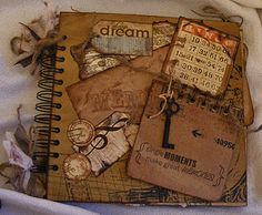 Creative Cafe': BoBunny Et Cetera Mini Album Scrapbook Journal, Mini Scrapbook Albums, Scrapbook Cover, Envelopes, Junk Journal, Journal Ideas, Journal Design, Creative Journal, Handmade Books