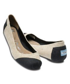 Use my link - http://www.zulily.com/invite/mpotter1688  Another great find on #zulily! Burlap Alessandra Ballet Flat by TOMS #zulilyfinds