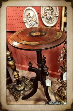 Victorian Antique stand, decorated with three legs, $156.  Gaslamp Antiques booth B106.