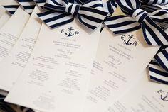 Nautical Wedding Programs