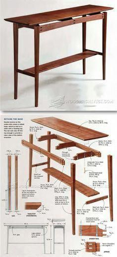 New Woodworking Projects Furniture Table furniture project Floating Top Table Plans Furniture Plans and Projects Furniture Projects, Table Furniture, Furniture Design, Stain Furniture, Painted Furniture, Woodworking Furniture Plans, Woodworking Projects, Woodworking Apron, Woodworking Workshop