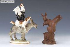Skulptur, Meissen, Böttger Steinzeug, Modell P 231 nach J.J. Kändler, Eichhörnchen, H. ca. 14.5cm