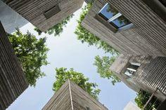toiture de terrasse et jardin contemporain