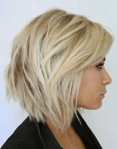 short hairstyles longer in front - Google Search