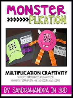 MONSTER-PLICATION Multiplication Strategy Craftivity Have your students demonstrate their understand 3rd Grade Activities, Multiplication Activities, Math Games, Math Math, Numeracy, Multiplication Properties, Repeated Addition Multiplication, Math Fractions, Fourth Grade Math